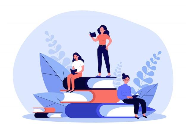 Personnes lisant des livres