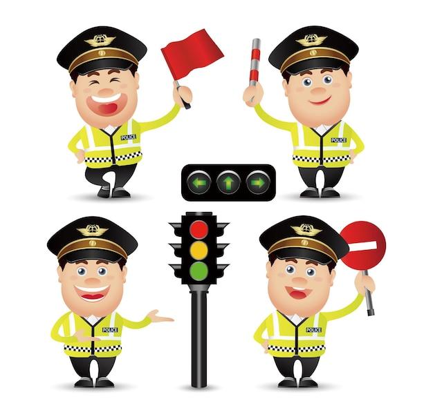 Personnes mignonnes-professionnel-policier