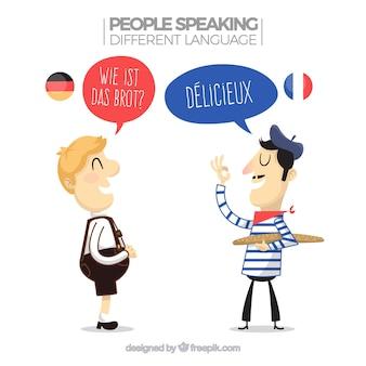 Personnes parlant différentes langues