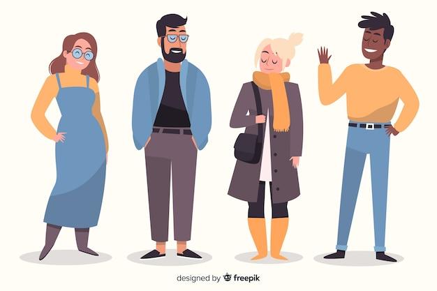 Personnes portant des vêtements d'automne