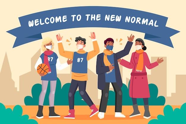 Des personnes positives face à la nouvelle normalité