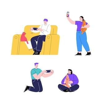 Personnes prenant des photos avec un smartphone