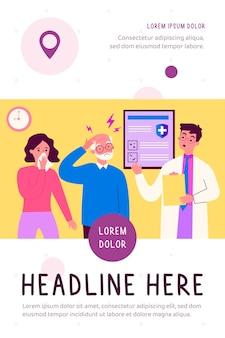 Les personnes présentant des symptômes de maladie visitant un médecin