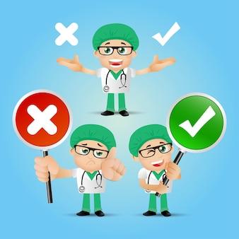 Personnes set profession doctor sset