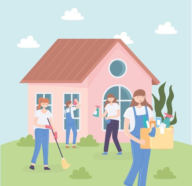 Personnes et tâches ménagères