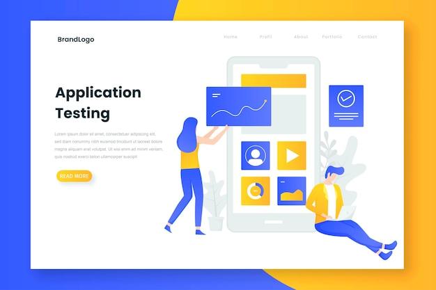 Personnes testant le concept d'illustration d'application