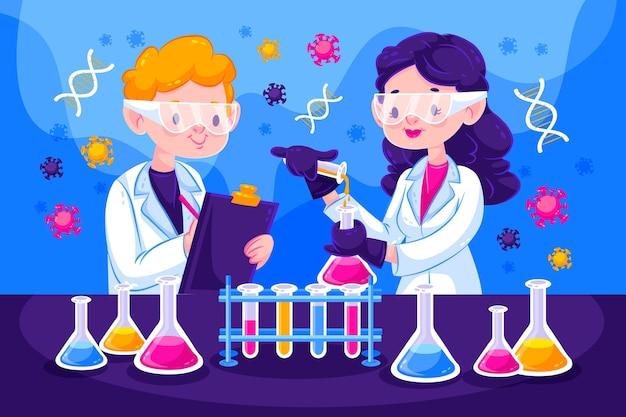 Personnes travaillant dans un laboratoire scientifique