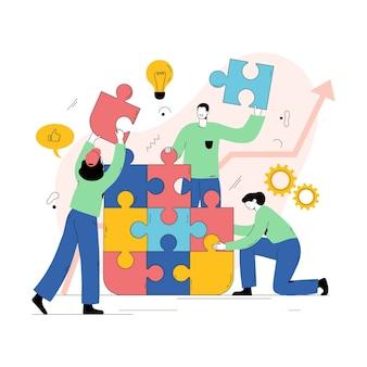 Personnes travaillant ensemble dans une startup