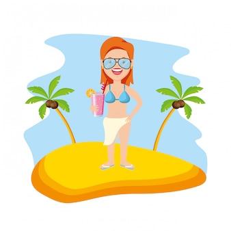 Personnes en vacances heure d'été