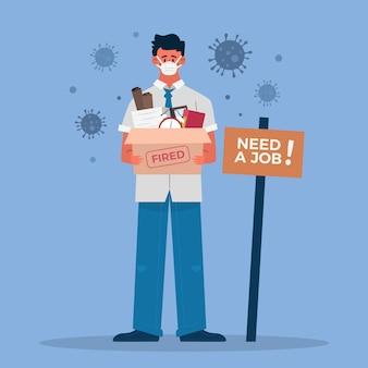Perte d'emploi due à la crise des coronavirus