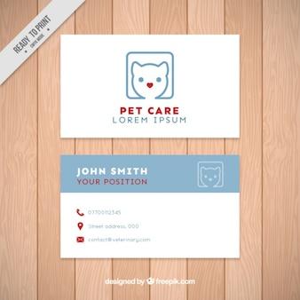 Pet carte de visite de soins