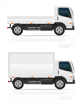 Petit camion à titre d'illustration vectorielle de transport cargo