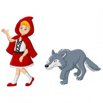 Petit chaperon rouge avec loup