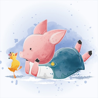 Petit cochon et le petit canard
