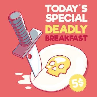 Petit déjeuner spécial mortel