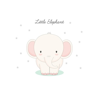 Le petit éléphant charmant.