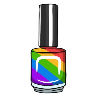 Un petit flacon de vernis ou de vernis gel. nécessaire pour le maître. illustrations vectorielles en style cartoon pour la conception et la décoration.