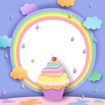 Petit gâteau arc-en-ciel