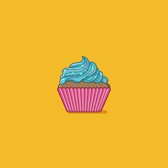 Petit gâteau bleu