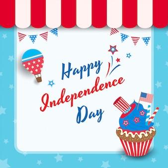 Petit gâteau de la fête de l'indépendance
