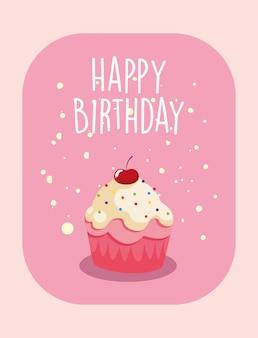Petit gâteau joyeux anniversaire