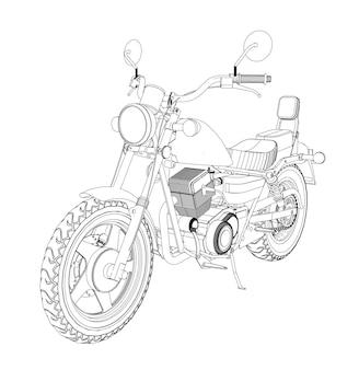 Un petit hachoir est un classique. illustration vectorielle en noir et blanc avec des lignes de contour.