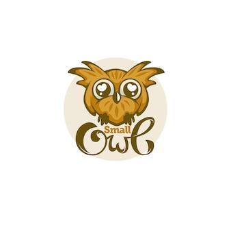 Petit et mignon bébé hibou pour votre logo avec composition de lettrage