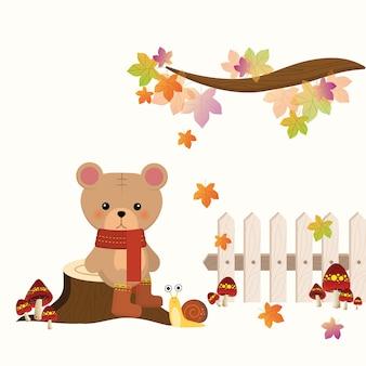 Petit ours d'automne