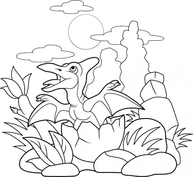 Petit ptérodactyle mignon