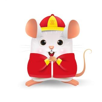 Petit rat blanc