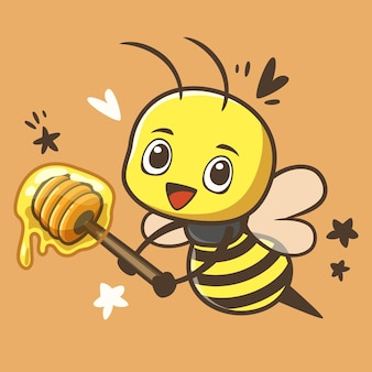 Petite abeille mignonne