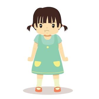 Petite fille en colère, personnage.