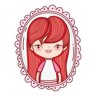 Petite fille dessin mignon