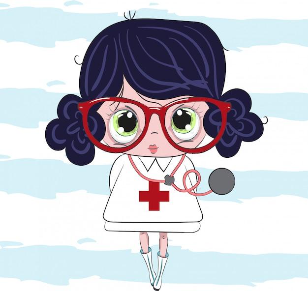Petite fille docteur