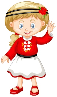 Petite fille en tenue ukrainienne