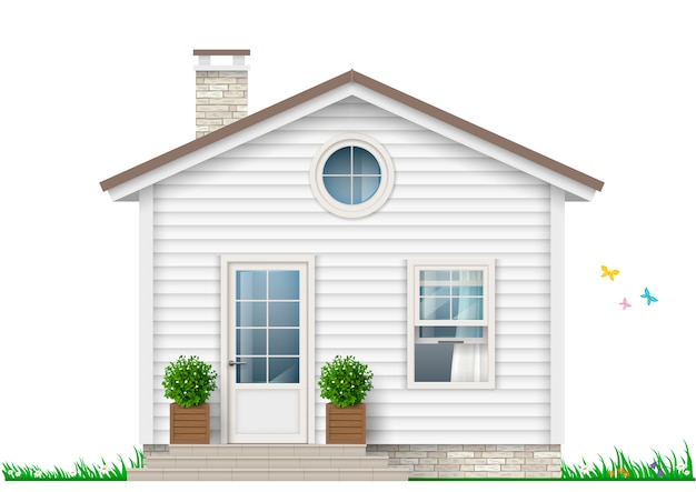 Une petite maison blanche