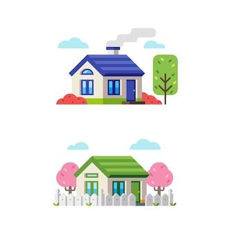 Petite maison de style plat 1
