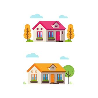 Petite maison de style plat 2