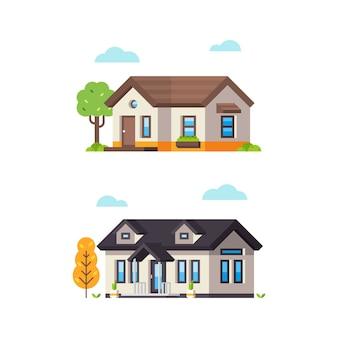 Petite maison de style plat 4