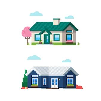 Petite maison de style plat 5