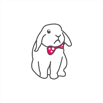 Petite mascotte de lapin mignon