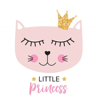 Petite princesse chat mignon