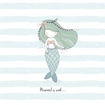 Petite sirène dessin illustration