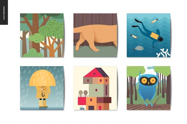 Petites choses cartes postales
