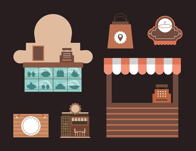 Petites entreprises d'icônes