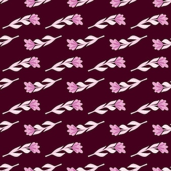 De petites fleurs simples roses façonnent un motif de griffonnage sans couture
