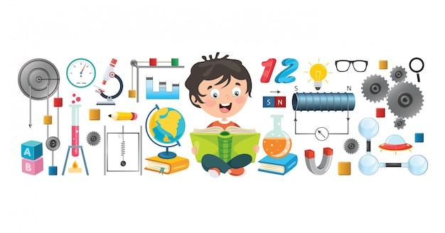 Petits écoliers en apprentissage