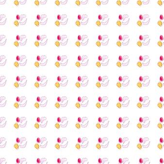 Petits fruits façonne le modèle sans couture avec l'ornement de doodle : banane