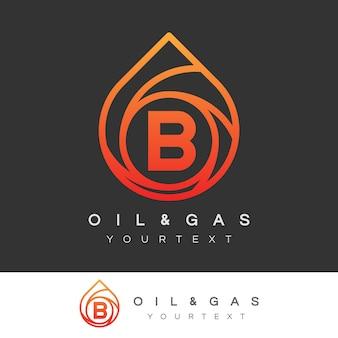 Pétrole et gaz initial lettre b logo design