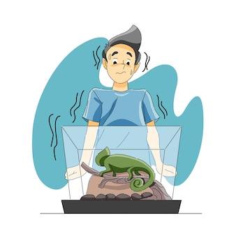 Peur des amphibiens ou herpétophobie